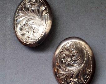 Sterling Silver .925 Ornate Earrings