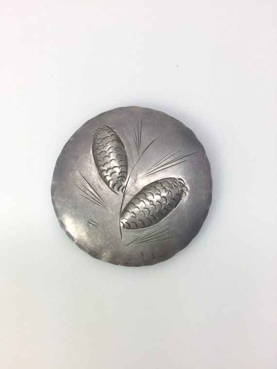 Sterling silver vintage wheat brooch