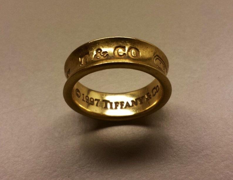 516c58ad3 18K Yellow Gold Tiffany 1997/1837 ring Size 5 | Etsy