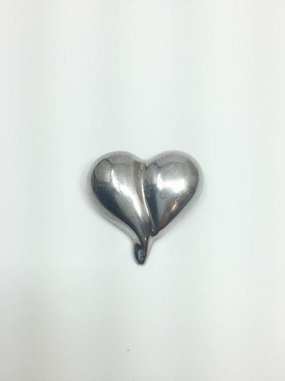 Sterling silver heart brooch