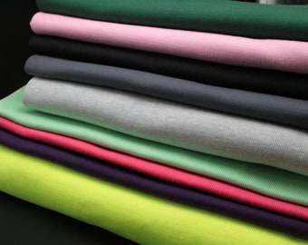 Apparel Sewing & Fabric 50 *100cm Stretchy Cotton Thick Knitted Sweater Rib Fabric Sportswear Close Cuff Fabric Cylindrical Elastic Cotton Knit Rib High Quality Fabric