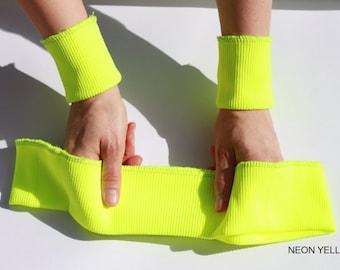 26 Colours -- Set of Elastic Rib Knit Fabric, depth 7 cm - 2x Cuffs and Waistband/Hems