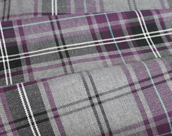 Fashion Purple Tartan Fabric