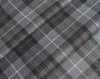 Grey Tartan Fabric