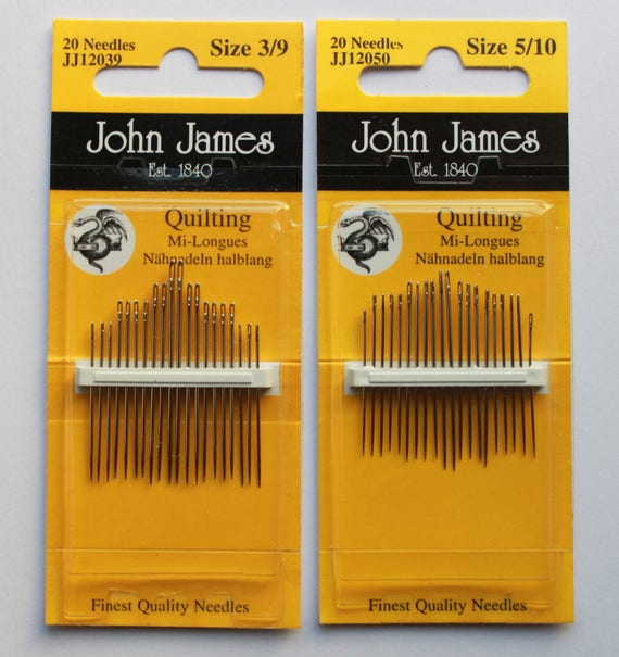Size 3//9 Sewing Hand Vintage Golden Fleece Needles Betweens Lot of 5 packs