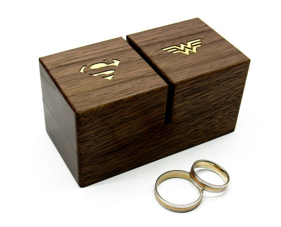 2 Types Personalized Wood Wedding Ring Box Valentines  Wedding Ring  Pillow