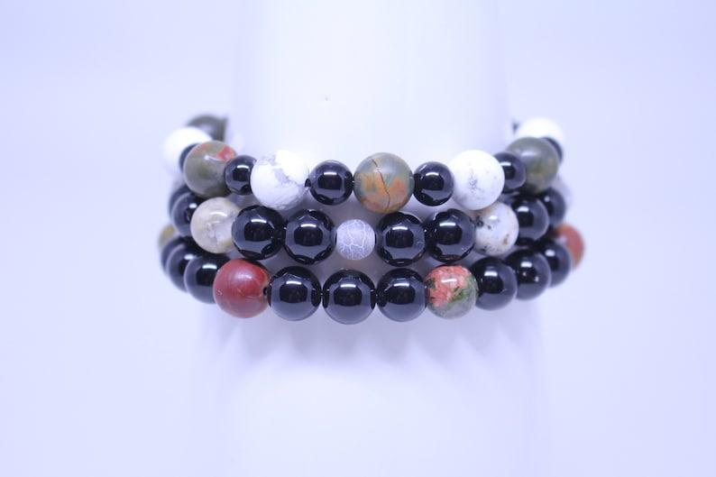 Gift for Her STRENGTH Positive Energy and Strength Natural Healing Gemstone Bracelet