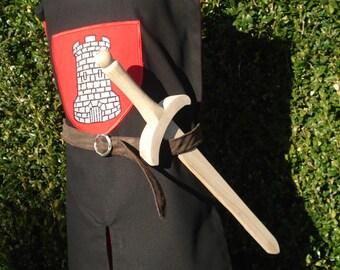 déguisement / costume tunique de chevalier, taille 5 à 8 ans