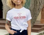 White T-Shirt Mock-up - Bella Canvas T-Shirt Mock-up - T-Shirt Mockup - Bella Canvas 3001 Mock-up - Product Model