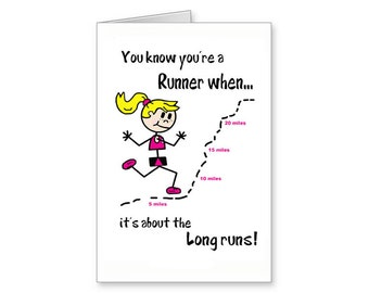 Long Run Card Runners For Runner Greeting FunnyRunning