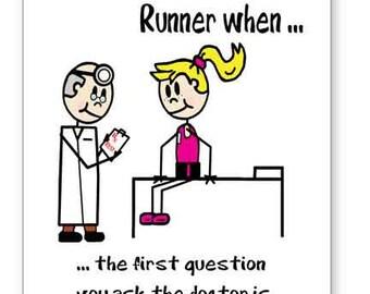 Get Well Card For Runner, Running Get Well Card, Encouragement Card for Runner, Gift for Runner, Runner's Greeting Card, Running Gift Card