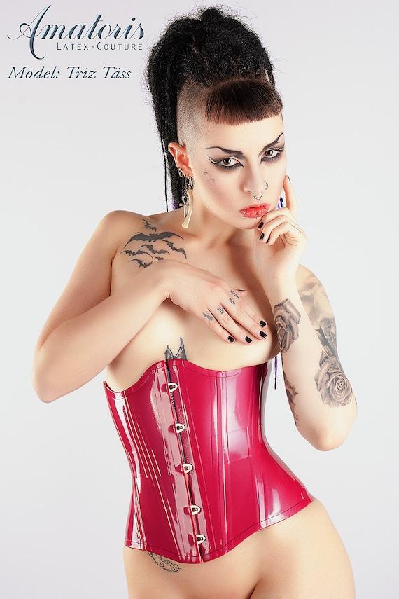 Latex corset models