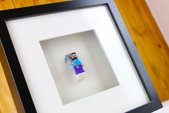 Minecraft Steve Lego Minifigure Frame