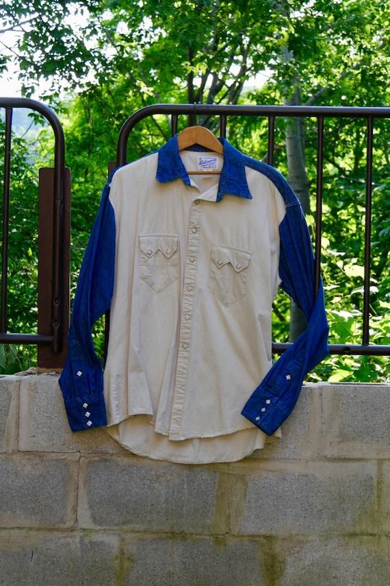 Rockmount Ranch Wear 2 tone Western shirt, Vintage