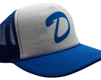 d70f7499864 Clementine s Trucker Hat Curved Bill Baseball Letter D Funny