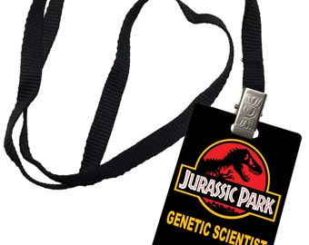 Jurassic Park Novelty ID Badge Prop Costume Igen Genetic Scientist 0057