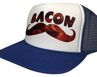 897cfe0c379d3 Brand New Bacon Funny Trucker Hat BBQ Vintage Mesh Cap Snapback