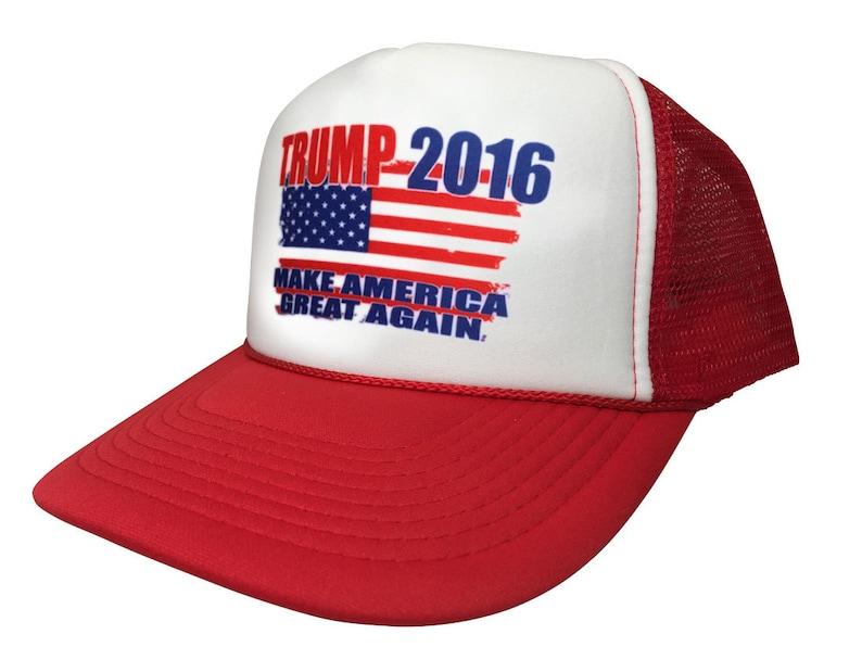 New Retro Trump 2016 Make America Great Again Political Cap Trucker