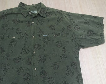 41109617818 Mens olive green button up shirt   Etsy