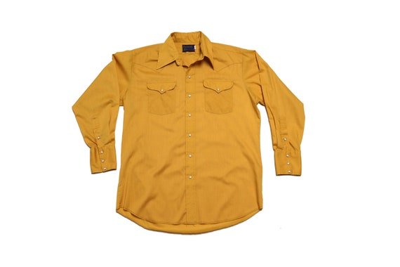 Vintage Mustard Yellow Shirt - Vintage Yellow West