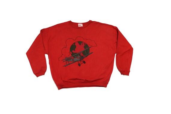 Vintage Red Denim Pullover - Vintage Denim Sweater