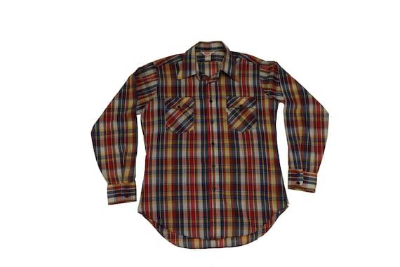 Vintage Levis Plaid Shirt - Vintage Plaid Shirt -