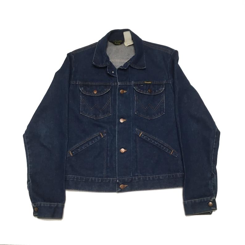 a1f95d2aa9 Vintage Wrangler Denim Jacket Vintage Wrangler Jean Jacket