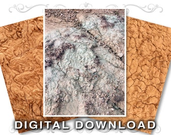 3 Mud Nature Clip Art Background Images | Southwest Stock Photo Textures | Cracked Dirt | Dried Mud | Small Business Commercial Use | Mud02