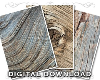 3 Rustic Clip Art Photos | Weathered Wood Backgrounds Clipart | Natural Aged Wood Texture | Instant Download | Commercial Use | Wood03