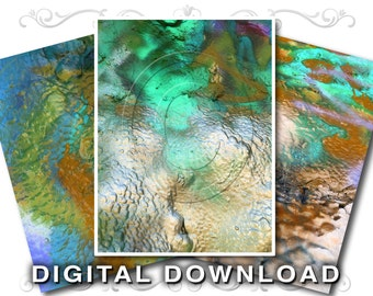 3 Stock Photo Textures | Graffiti Paint | Small Business & Commercial Use | Paint-01 Teal Gold