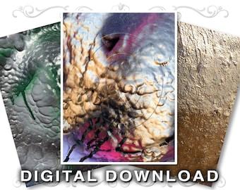 Graffiti Paint Clip Art | Stock Photos Scrapbooking Backgrounds | Alien Landscape Alien Skin | Gold Silver | Commercial Use | Paint03