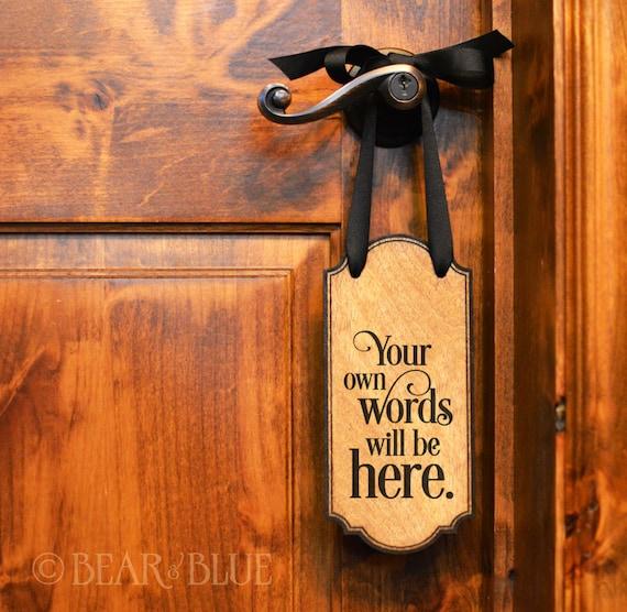 Door Handle Signs O Birch Plywood x 10.