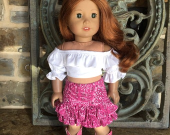 885de7433 18 in doll clothes made to fit the American girl doll- pink shorts-  sandals- Pink
