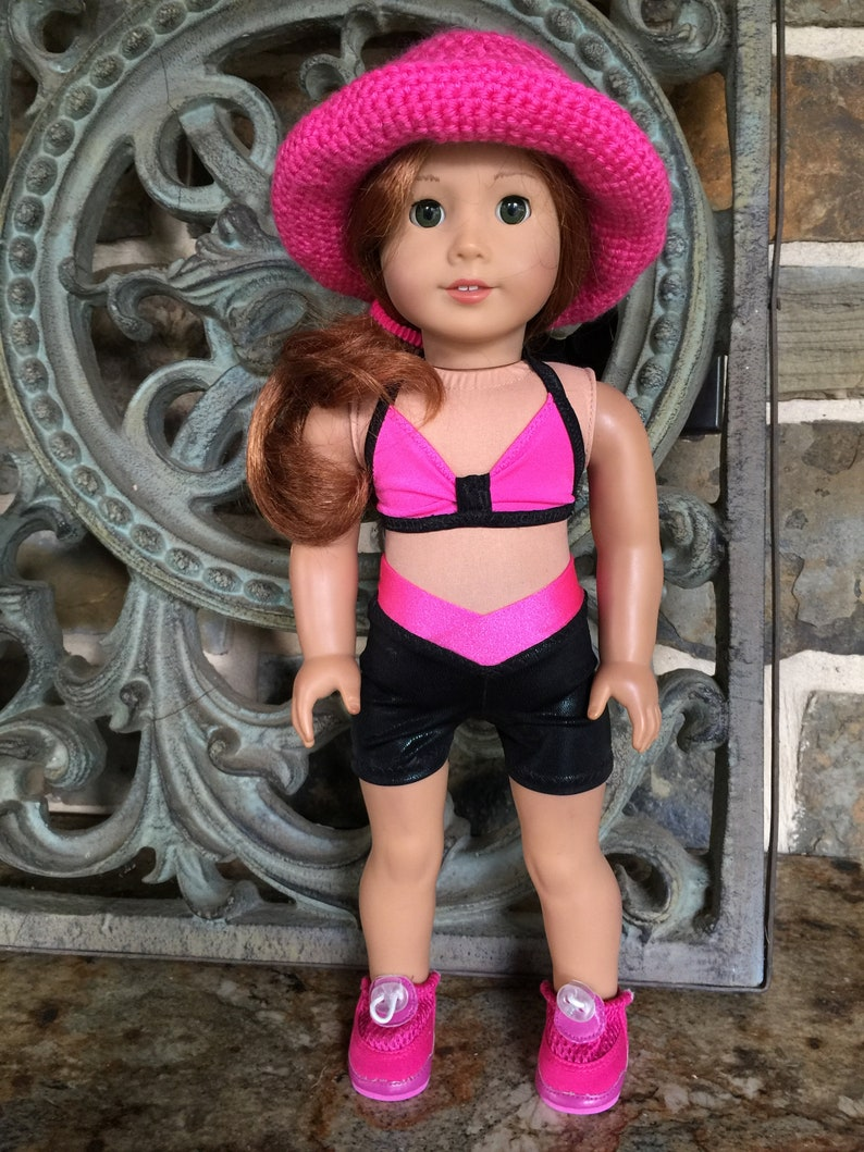 Pink Sports Bra 18 in Doll Clothes Fits American Girl