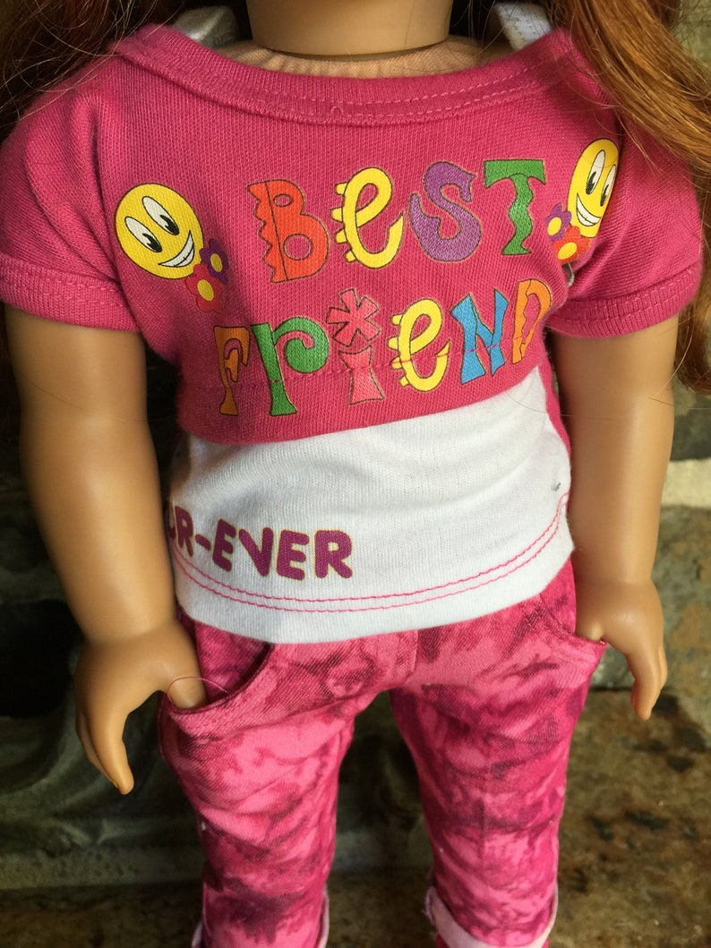 """Pink Tie Dye Top Shirt made for 18/"""" American Girl Doll Clothes"""