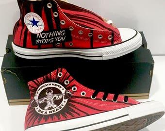 Men converse shoes red ,Custom sneakers , Custom shoes, Men custom Converse, custom vans, Customized shoes ,customized sneakers