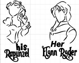 His Rapunzel Her Flynn Ryder Car Decal