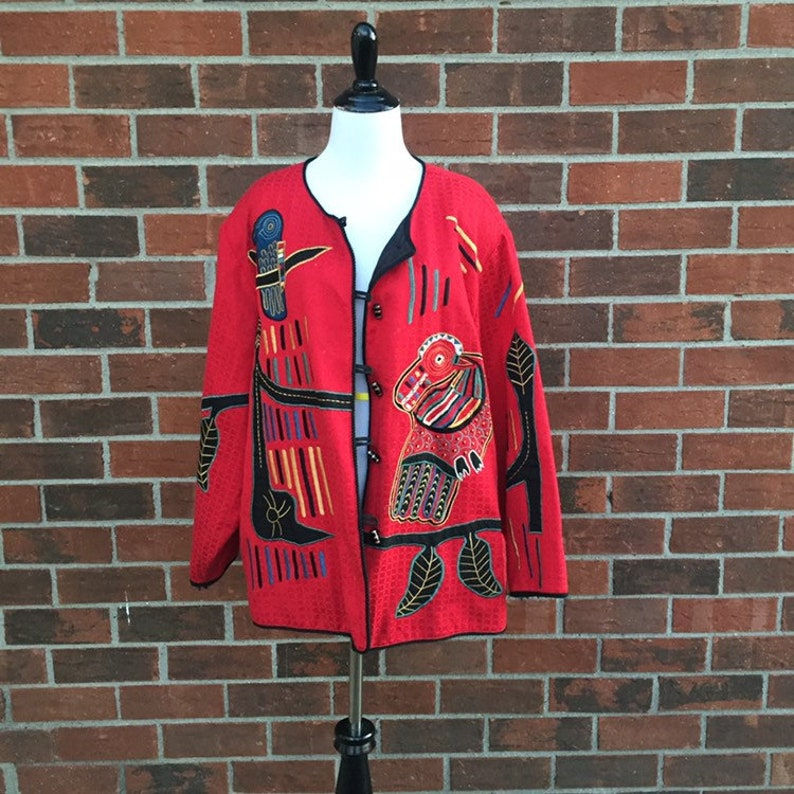 cb7485bcffe Maggie barnes wearable art vintage jacket unique jacket