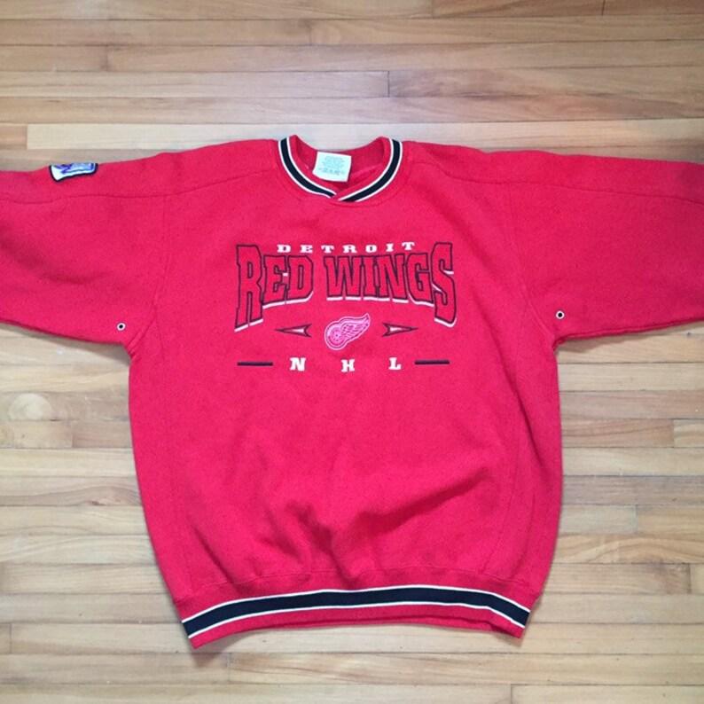 official photos e24a4 12026 Vintage hockey apparel, detroit red wings, vintage red wings, vintage Lee,  vintage nhl, hockey sweatshirts, vintage oversized sweatshirt, L