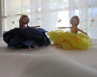 Primary Colored Fairy Dolls