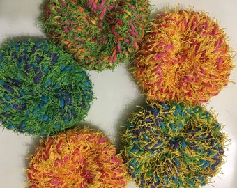 Handmade knit kitchen scrubbies