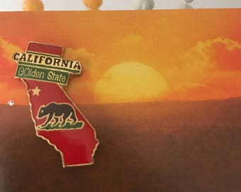 Vintage Deadstock California Golden State Pin