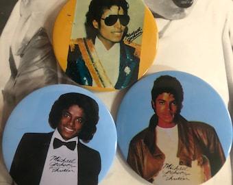Vintage Micheal Jackson Button Pins