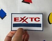 Embroidered EXXTC Ecstasy EXXON Parody Iron-On, Sew-on Patch