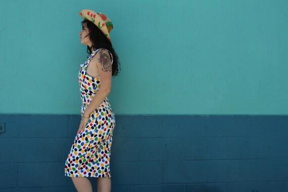 Vintage Polka Dot Open Back Dress
