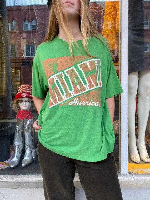 RAD Vintage Miami Hurricanes Paper Thin Graphic T-