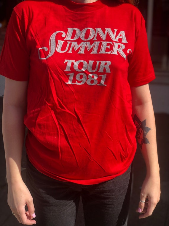 Deadstock Vintage Donna Summer 1981 Tour Graphic T