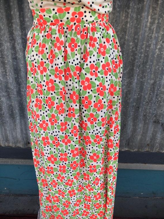 """Vintage """"Jo Jr Dallas"""" Polka Dot & Floral Two-Pie… - image 5"""