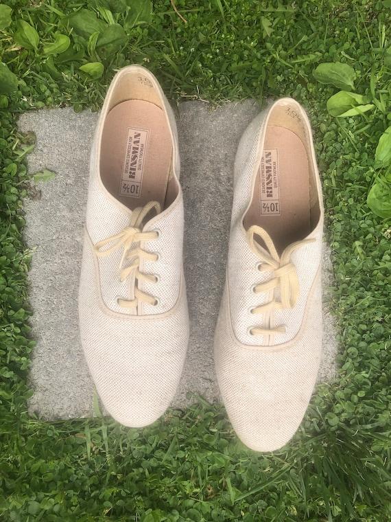 Vintage Kinsman Canvas  Lace Shoes