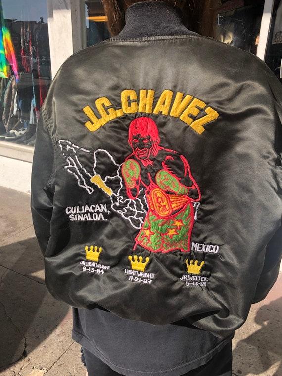 Vintage 1980's JC Chavez Boxing Bomber Jacket